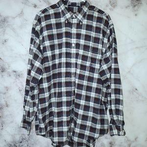 Nautica plaid button down long sleeved shirt
